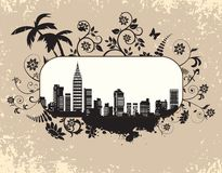 The city's skyline Stock Images