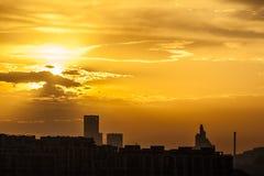 City's sunrise Stock Images