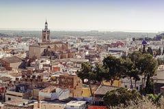 City of Sagunto. Valencian Community. Aerial view of the city of Sagunto. Valencian Community. Spain Stock Photos
