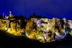 Saint Flour, Cantal, Auvergne-Rhône-Alpes, France. The city of Saint Flour is divided into a historic upper town and a new suburb Stock Photography