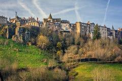 Saint Flour, Cantal, Auvergne-Rhône-Alpes, France. The city of Saint Flour is divided into a historic upper town and a new suburb Stock Image