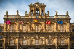 City of Salamanca. Major Plaza of of Salamanca, Spain, heritage of the Humanity Stock Images