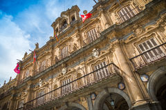 City of Salamanca. Major Plaza of of Salamanca, Spain, heritage of the Humanity Stock Image