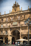 City of Salamanca. Major Plaza of of Salamanca, Spain, heritage of the Humanity Royalty Free Stock Photography