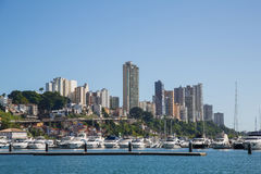 City of Salvador de Bahia in Brazil. Images from the seaside for Royalty Free Stock Photography