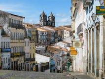 City of Salvador de Bahia, Pelourinho. Old town of Salvador de Bahia, Pelourinho, Brazil Stock Photo