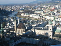 City of Salzburg. A panoramic view of the city of Salzburg in Austria royalty free stock photos