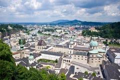 City of Salzburg, Austria. View of city of Salzburg in Austria Royalty Free Stock Photos