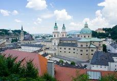 City of Salzburg, Austria. View of city of Salzburg in Austria Stock Image