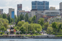 City of Samara with the Volga river. City of Samara, a Volga river in the summer Stock Images