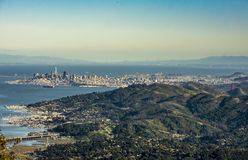 City of San Francisco from Mt Tamalpais stock photo