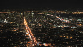 City of San Francisco at Night from Twin Peaks - Ver 2 stock video