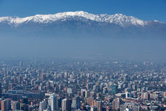 City of Santiago, capital of Chile. Stock Photos