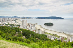 City of Santos in Sao Paulo. Aerial view of coast city Santos, in Sao Paulo Royalty Free Stock Images