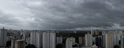 City Sao Jose dos Campos - Sao Paulo, Brazil - with cloudy sky. Photo of city Sao Jose dos Campos - Sao Paulo, Brazil - with cloudy sky Stock Photos