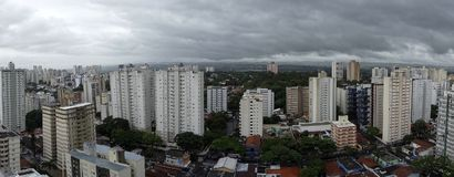 City Sao Jose dos Campos - Sao Paulo, Brazil - with cloudy sky. Photo of city Sao Jose dos Campos - Sao Paulo, Brazil - with cloudy sky Stock Photo