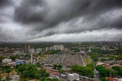 City Sao Jose dos Campos - Sao Paulo, Brazil - with cloudy sky. Photo of city Sao Jose dos Campos - Sao Paulo, Brazil - with cloudy sky Stock Image