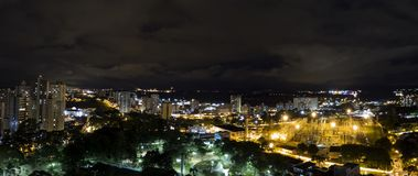 City Sao Jose dos Campos - Sao Paulo, Brazil - at night with cloudy sky. Photo of city Sao Jose dos Campos - Sao Paulo, Brazil - with cloudy sky Royalty Free Stock Photo