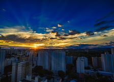 City Sao Jose dos Campos, SP / Brazil, at sunset. Photo of City Sao Jose dos Campos, SP / Brazil, at sunset Royalty Free Stock Image