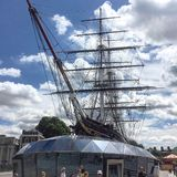 City sark Greenwich. Sailing clipper tea Royalty Free Stock Photos