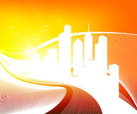 City scape. An illustration of growing economy Royalty Free Stock Images