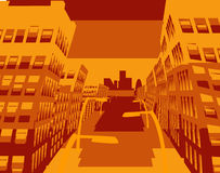 City scape. An abstract illustration of a city street