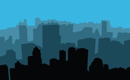 City scape. A city scape from the empire state building in new york in silhouette Stock Image