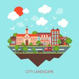City scape background Stock Image