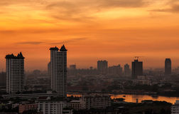 City Scape in bangkok Royalty Free Stock Images