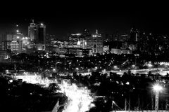 City Scape. Black and white city scape Royalty Free Stock Photos
