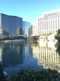 City Scape. Building reflected by the lake with the morning light Royalty Free Stock Photography
