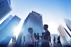 City Scape Business Team Teamwork Meeting Collaboration Concept Stock Image