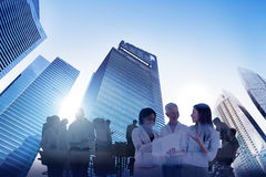 City Scape Business Team Teamwork Meeting Collaboration Concept Royalty Free Stock Image