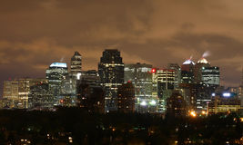City scape. Of Calgary Canada at night Stock Photography