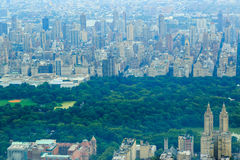 City scape and central park in Manhattan, New York Royalty Free Stock Photo
