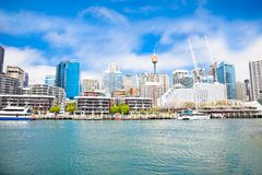 City scape of Darling Harbour in Sydney, Australia. Stock Image