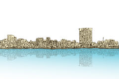 City scape free hand drawing, Hanoi city, vector and illustratio. N Stock Photo