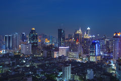 City scape in heart of bangkok thailand with beautiful lighting Stock Photography