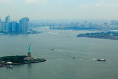 City scape on the Hudson River in New York City Stock Image