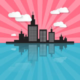 City Scape Illustration Royalty Free Stock Photo