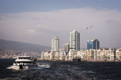 City scape of izmir. Royalty Free Stock Photos