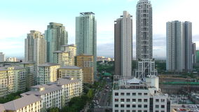 City scape of Manila on May 17, 2015 in Manila, Philippines stock video footage