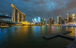 City scape; Marina Bay stock image