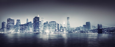 City Scape New York Buildings Travel Concept Stock Images
