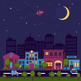 City scape night background Royalty Free Stock Photography