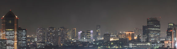 City scape. At night,Bangkok thailand Stock Images