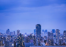 City scape night scene skyline Building with lighting Royalty Free Stock Images