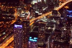 City scape at night of Toronto, Canada Stock Photos