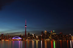 City scape at night of Toronto, Canada Royalty Free Stock Photography