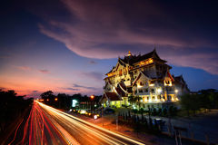 City scape. At night in Ubon Ratchathani Thailand Royalty Free Stock Images
